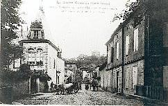 The street near the castlel during the last century